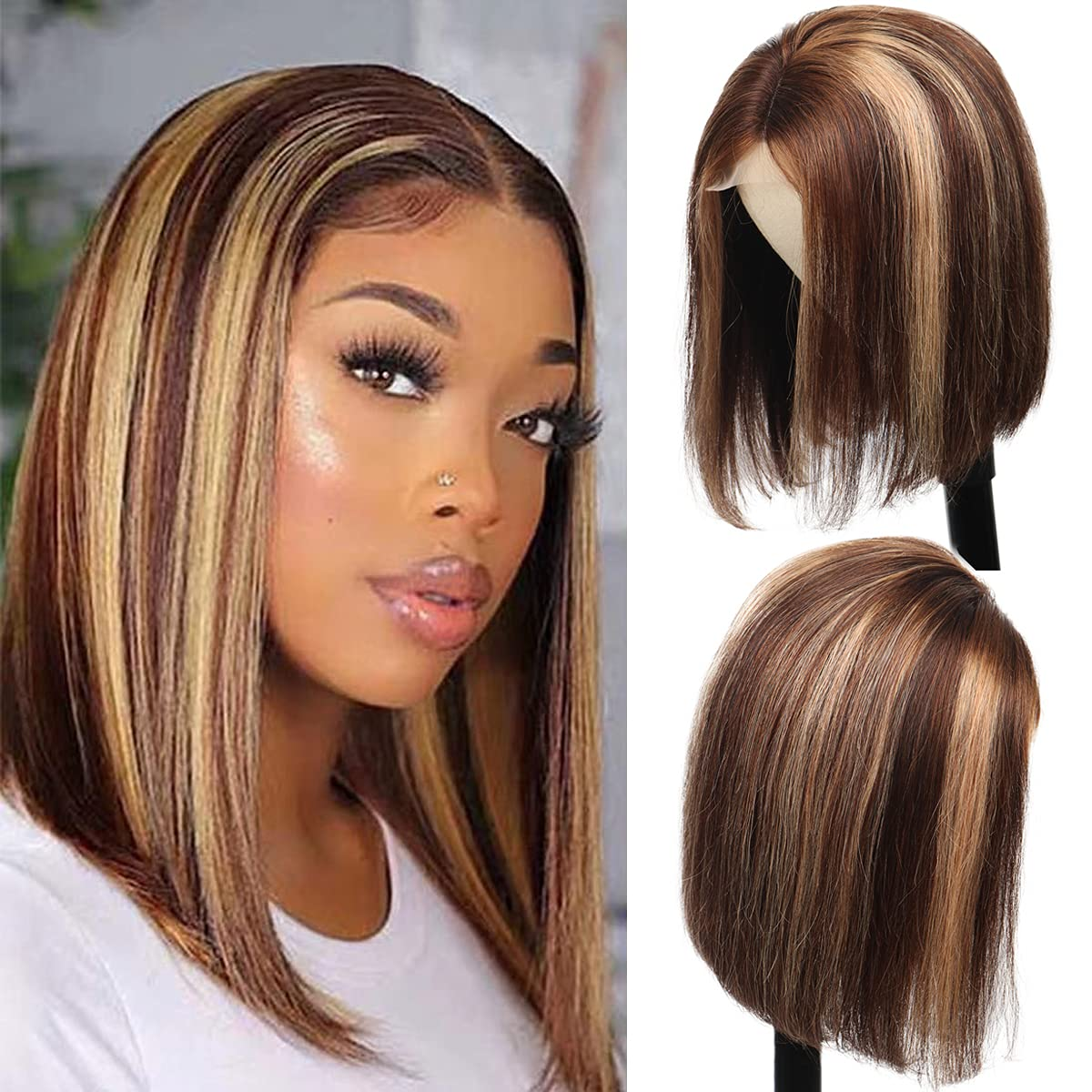 Highlight 4 27 Lace Bob Wigs for Women 2021 Sales of SALE items from new works model Ombre Fro Human Hair