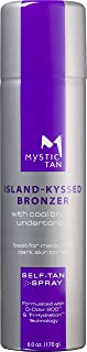 Mystic Tan Sunless Self Tanner Airbrush Spray Tan with Bronzer – Island-Kyssed, 6 Ounces