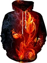 Neemanndy Unisex 3D Hoodies Cool Design Graphic Colorful Sweatshirt with Pocket for Men and Women