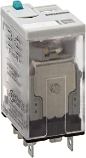 Siemens 3TX7114-5LC03 Premium Plug In Relay, Square Base, Narrow, Mechanical Flag, Push To Test, Lock Down Door, LED, DPDT Contacts, 20A Contact Rating, 24VDC Coil Voltage