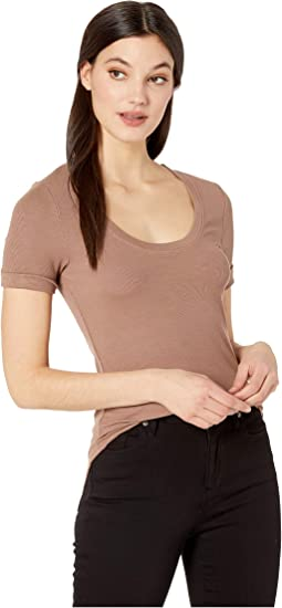 You Half Basic 2X1 Modal Stretch Rib Top