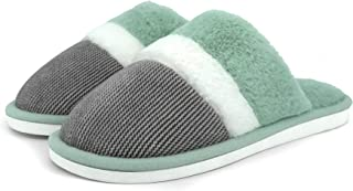 House Fuzzy Slippers for Women and Men Comfy Foam Warm...