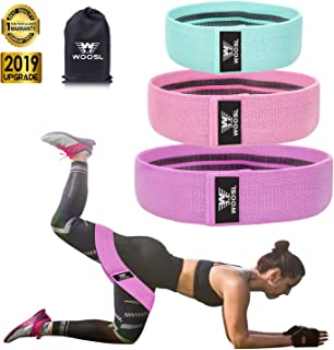 HEALTHYMODELLIFE 2 Pack Excellent Exercise Partner Perfect for The Gym Home Use. Anti-Slip No Role Design for Superior Comfort and Control Soft Fabric Resistance Bands 2 Piece Set