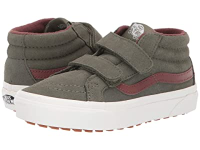 Vans Kids SK8-Mid Reissue V MTE (Little Kid/Big Kid) ((MTE) Deep Lichen Green/Root Beer) Boys Shoes