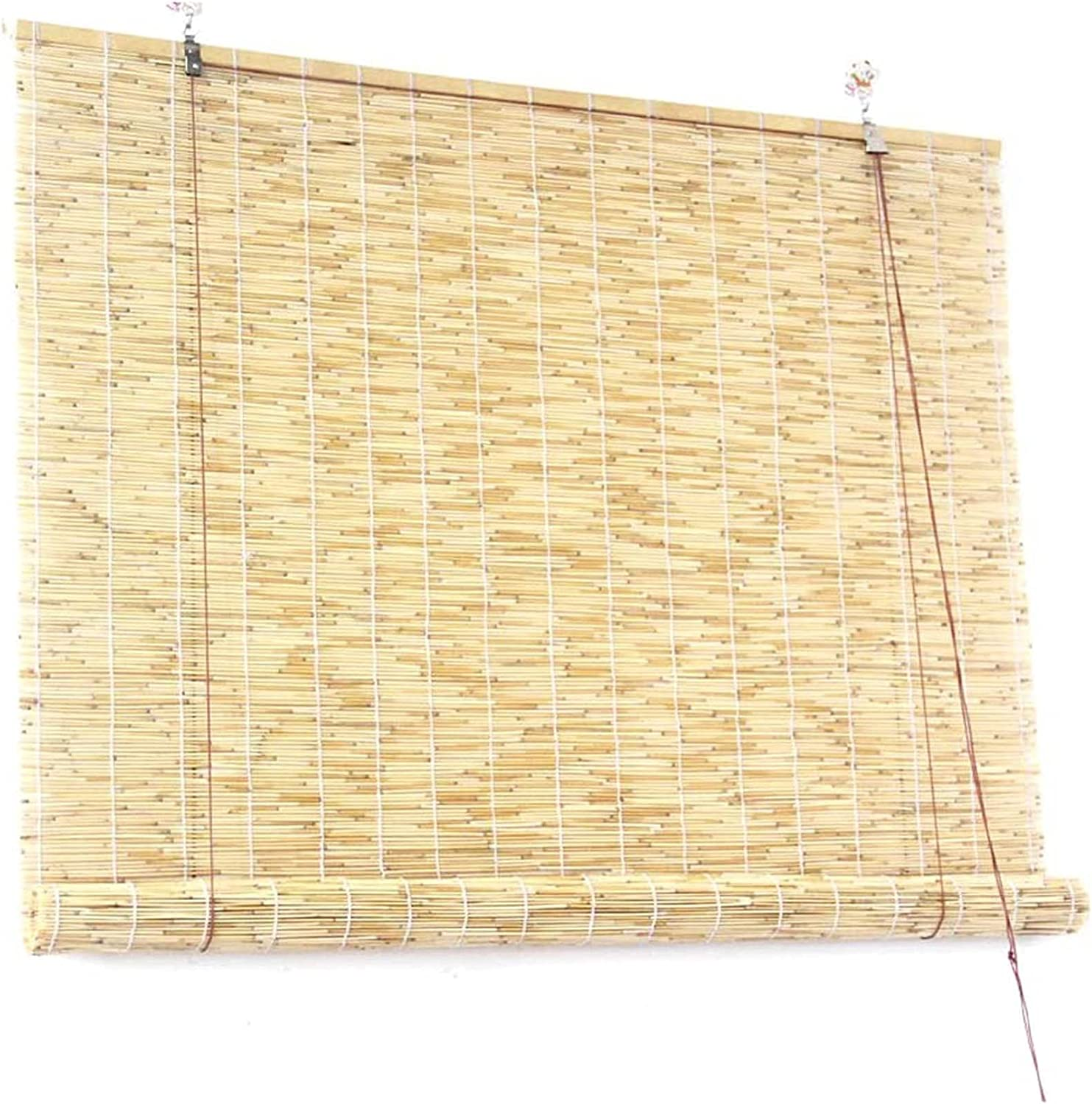 Popular products Roll-up Reed Shade Direct stock discount Natural Roll Window Up Hand-Woven Blind