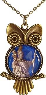 Greek Goddess Athena Owl Necklace