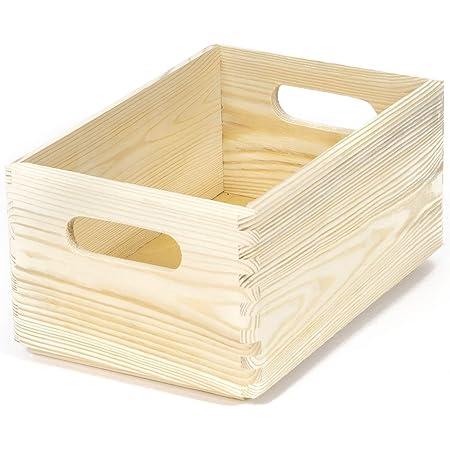 Compactor, Organisateur de Tiroirs - Casier de Rangement en Pin Naturel, Rectangulaire, Bois Clair, Dimensions: 30 x 20 x H.14 cm, Taille S, RAN6474