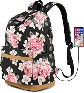 Backpack for Women College, Girls Bookbag with Lunch Bag and Pencil Case