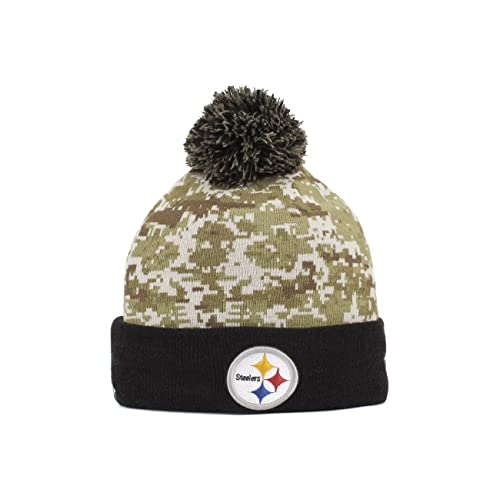 New Era Men s NFL 2015 Pittsburgh Steelers Salute to Service Knit Hat 1b5aeae5f
