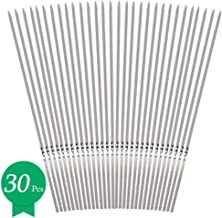 Metal Kabob Skewers, 13'' Barbecue Skewers Flat Long Thick Stainless Steel Kabab Grill Sticks Reusable & Eco-friendly Wide BBQ Sticks Set for Shish Grilling BBQ Skewers, 30 Pack