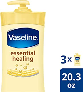 Vaseline Body Lotion, Essential Healing, 20.3 Fl Oz (Pack of 3)