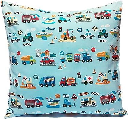 Trypinky Fodera Per Cuscino Cuscino Auto Su Blu Chiaro 50 X 50 Cm Cuscino Per Bambini Veicoli Ragazzi 100 Cotone Decorativa Federa Cuscino Cuscino Gioco Bambini Aereo Escavatore Ragazzi Asilo Amazon It