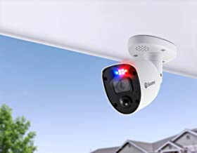 Swann SODVK-456804RL-AU Enforcer Camera with Flashing Lights, 4 K Ultra HD DVR Security System, Pack of 4