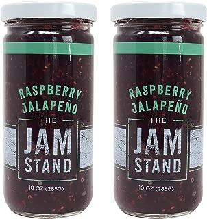 The Jam Stand, Raspberry Jalapeño Jam, 10 oz (Pack of 2)