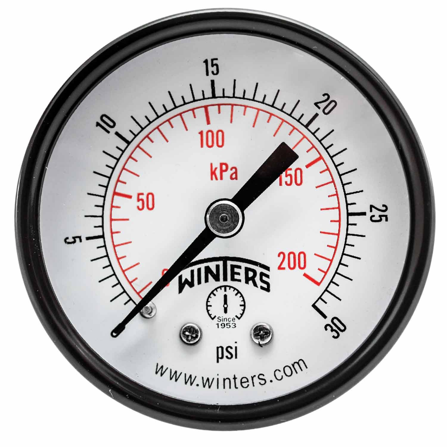 Winters PEM Series Safety and trust Steel Dual Economy Gauge Safety and trust Pressure 0-30 Scale