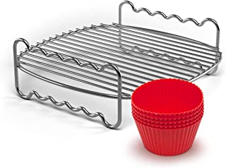 Philips Kitchen Appliances Party Master Accessory Kit with Double Layer Rack and Silicone Muffin Cups-for Philips Compact ...