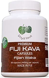 Royal Kava Pure Noble Kava Capsules Highest Grade Fijian Kava Kava Extract 1760mg Servings for Relaxation & Stress Relief 100% Organic Relax Better with Kava Now