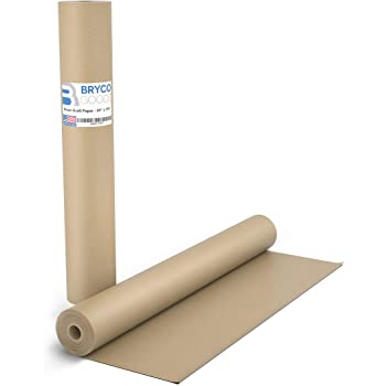Brown Kraft Butcher Paper Roll - Long 24 Inch x 175 Feet (2100 Inch) - Food Grade Brown Wrapping Paper for Smoking Meat of all Varieties – Unbleached, Unwaxed and Uncoated – Made in USA