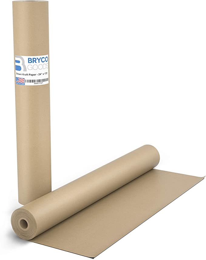 Bryco Goods Brown Kraft Butcher Paper Roll - The Safest for Use