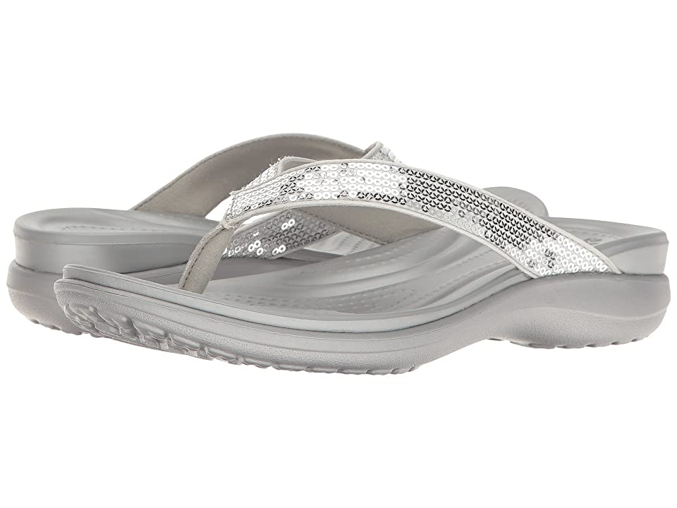 Crocs Capri V Sequin (Silver) Women