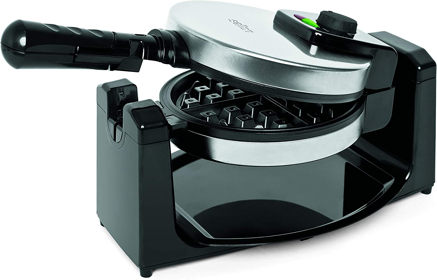 Salton Rotary Recommended Max 74% OFF Waffle Maker 5 kg Steel Stainless Black