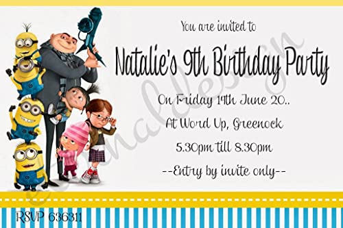 Eternal Design Personalisierte Kinder Geburtstag Einladungen kbsi 10 100 per pack with envelopes