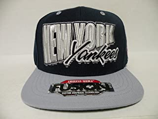 American Needle MLB New York Yankees Fusion 2 Tone Navy Gray Retro Snapback Cap