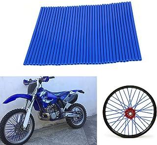 72 fundas protectoras de plástico para los radios de las ruedas de motocicleta Yamaha YZ 80, 85, 125, 250, YZ125, YZ426F, YZ450F, WR, 250F, 426F, 450F, color azul