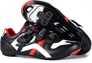 BUCKLOS Road Cycling Shoes Mens Precise Buckle Strap Compatible with Peloton Biking Shoes Spin Shoes Bicycle Sneakers SPD ...