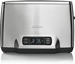 Sunbeam TA6240 Maestro 2 Slice Toaster, Stainless Steel, Silver