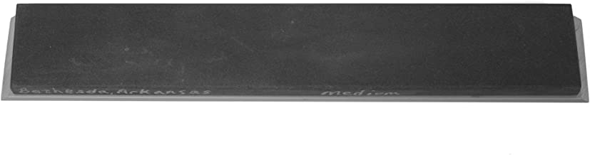 "Bethesda Black Arkansas Whetstone (6"" x 1"" x 0.25"" American Natural Sharpening Stone of Estimated 2,000 grit with Aluminum Mounting) for Edge Pro"