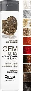 Celeb Luxury Gem Lites Colorditioner: Color Depositing Conditioner, BondFix Bond Rebuilder, 10 Traditional Colors, Stops Fade. Condition + Color, Cruelty-Free, 100% Vegan
