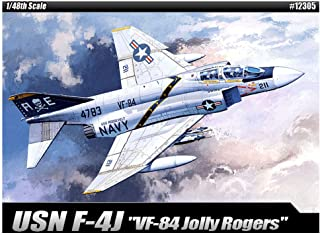 Academy VF-84 Jolly Rogers USN F-4J Plastic Model Kits 1/48 Scale