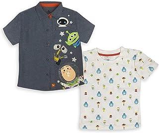 مجموعة قميص وتي شيرت منسوج للأولاد من ديزني وورلد أوف بيكسار