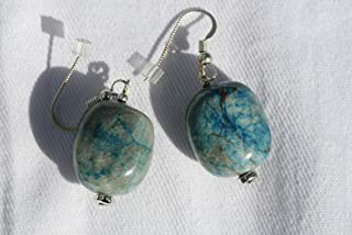 Ajoite and Papagoite Earrings