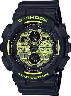 Casio G-Shock GA-140DC-1ADR Resin Band Analog-Digital Watch for Men - Black and Neon Yellow
