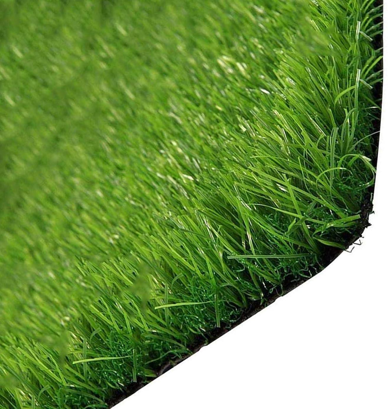 密見かけ上弓LLYYC 人工芝犬のため、グリーン人工芝 ドレン穴付き 15ミリメートル非毒性合成芝 屋内屋外 柔らかい ペットターフ パティオ用 人工芝エリアラグ,19x2m/57x6ft