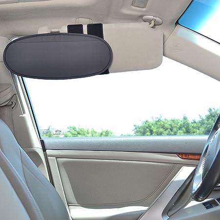 Wanpool Sonnenblenden Für Autofenster Fahrzeugdach Griff Sonnenschutz Für Kinder Und Erwachsene Silberfarben Auto