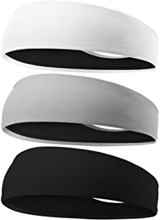 EasYoung Headbands for Men, 6/3/2/1 Pack Sweat Bands Headbands Mens Sport Cooling Headbands for Running, Crossfit, Working...