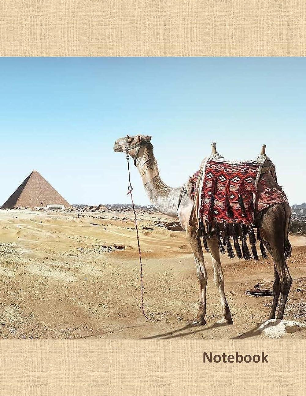 明確にレビュー水っぽいNotebook: Large notebook with 120 Lined pages. Wide ruled. Ideal for School notes, Journaling, Hand lettering, Calligraphy practice. Perfect gift. 8.5' x 11.0' (Large). (Camel in Egipt cover).