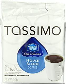 Maxwell House House Blend Coffee, Medium Roast, T-Discs for Tassimo Brewing Machines, 16..