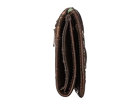 Shop Cheap Sale Cheap American West Annie's Secret Collection Trifold Wallet Chocolate/Distressed Charcoal Brown/Turquoise 2MBqAo9Zk