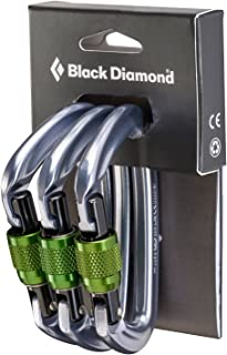 Black Diamond Positron Screwgate Carabiner - 3-Pack
