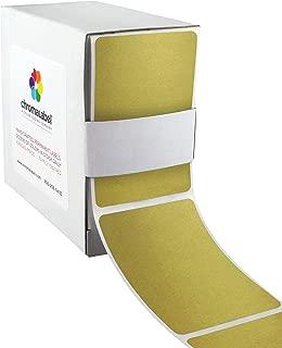 ChromaLabel 2 x 3 inch Color-Code Labels | 100/Dispenser Box (Gold)