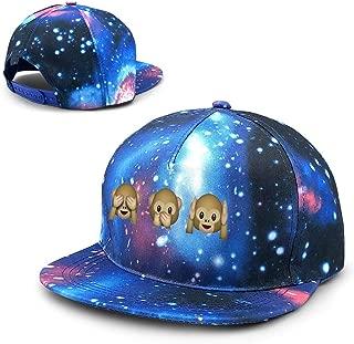 Man & Women's Unisex Space Star Monkey Emoji Baseball Hats Snapback Adjustable