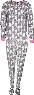 Ladies Sleepwear One-Piece Holiday Micro-Fleece Footed Onesie Sleeper Pajama