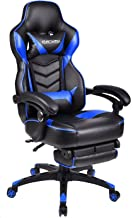 Video Gaming Chair Racing Office - PU Leather High Back Ergonomic Adjustable Swivel Executive Computer Desk Task for Adult...