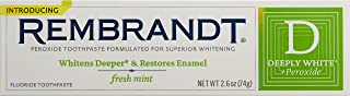 Rembrandt Deeply White Whitening Fluoride Toothpaste Mint, 2.6 Ounce (Pack of 3)