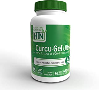 Sponsored Ad - Curcu-Gel Ultra 650 mg BCM-95® (CURCUGREEN®) Enhanced Absorption Bio-Curcumin Complex (Soy-Free & Non-GMO) ...