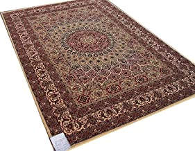 Carpet Palace Kashmiri High Quality Traditional Persian Design Brand Carpet & Rugs with 1 Inch Thikness for Living Room,Bedroom, and Hall 150x200cm 5 Feet by 7 Feet Color Ivory
